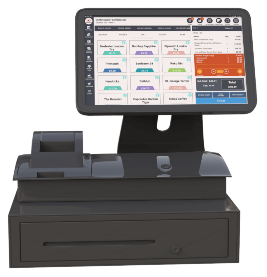 Our Powerful EPOS Terminals Available in Black and White