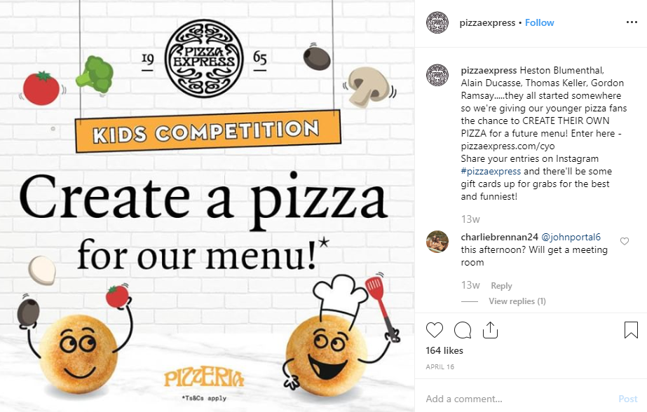 Pizza Express - social media